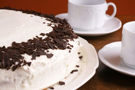 Lovely homemade torte with chocolate chip Stock Photo - 4897747