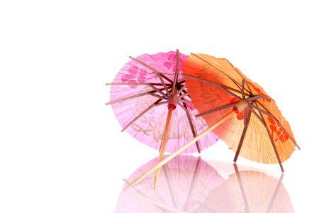 Colourful paper umbrellas forming a bright background. Reklamní fotografie