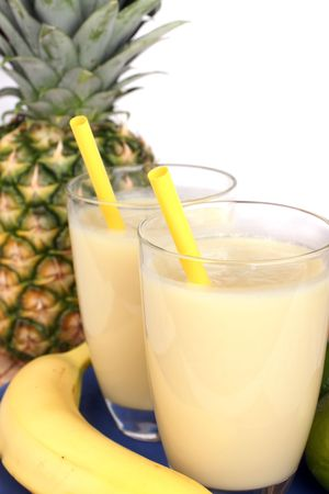 pineapple  glass: Delicious fresh milkshake mixed out of several fresh fruit.