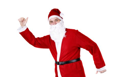 weihnachtsmann: Dancing Santa Claus Stock Photo