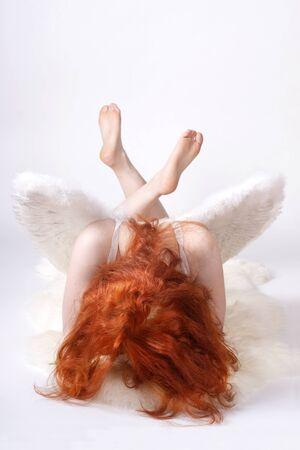 Mujer desnuda con alas de ángel Foto de archivo - 10710395