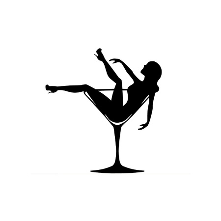 stripper: Girl in a Cocktail Glass Illustration