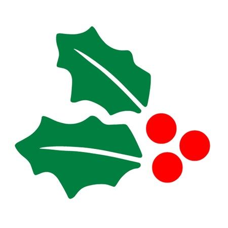 hulst: Hulst van Kerstmis Stock Illustratie
