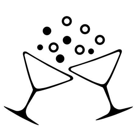 brindisi spumante: Celebration Toast Vettoriali