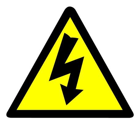 hazard: Electrical Warning Symbol Illustration