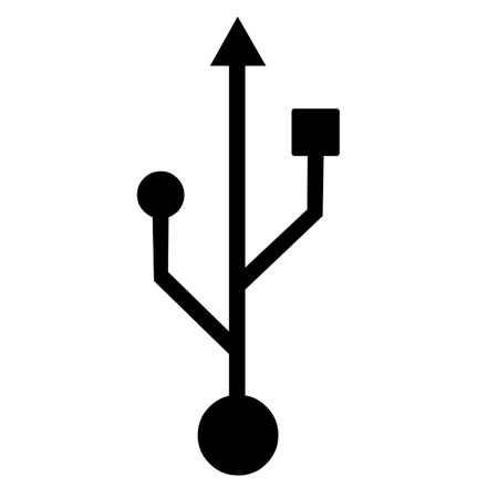 usb storage device: USB Symbol Illustration