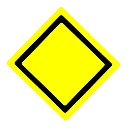 Warning Sign Base Stock Vector - 11813545