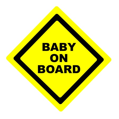 mother board: Baby on Board Sign