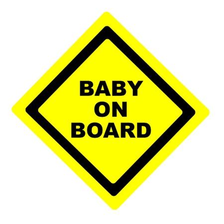 bebe a bordo: Beb� en Sign Board Vectores
