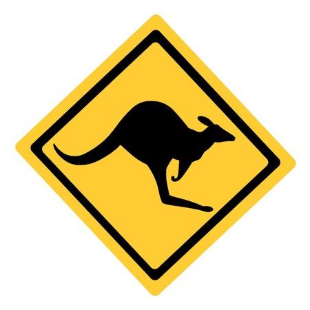 Ausralian Kangaroo Sign Illustration