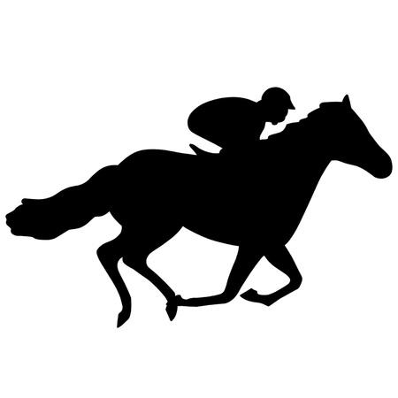 cavallo in corsa: Corsa di cavalli Vettoriali