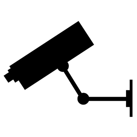 video�berwachung: CCTV-Kamera Illustration