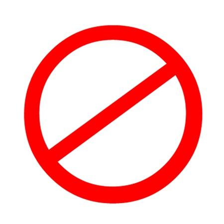 proibido: Banned Sign  Prohibited Symbol Ilustração