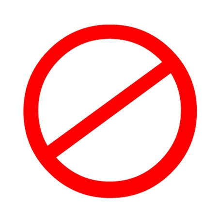unlawful: Prohibido Se�al  S�mbolo Prohibida