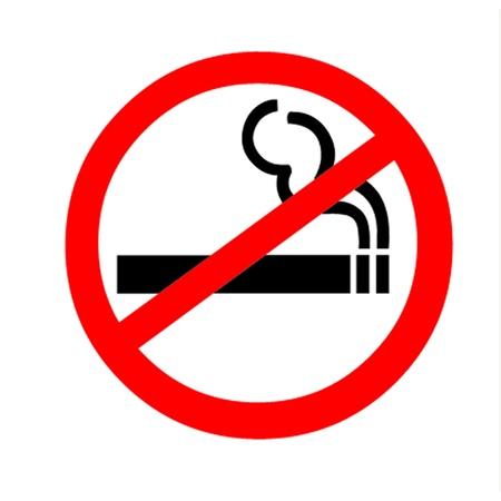 quit smoking: Smoking Ban Illustration