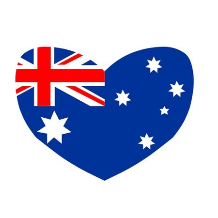 Heart Shaped Australian Flag Vector