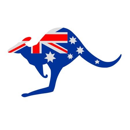 australian animal: Canguro de Australia Bandera