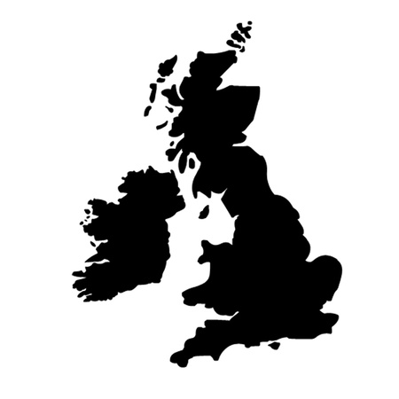 Britain - country outline. Vector