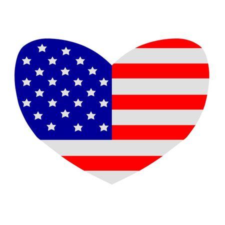 hawaii flag: Heart Shaped American Flag