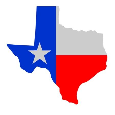 Bandera de Texas, Lone Star Ilustración de vector