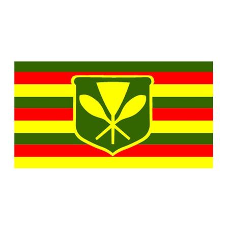 hawaii flag: Kanaka Maoli - Native Hawaiian Flag