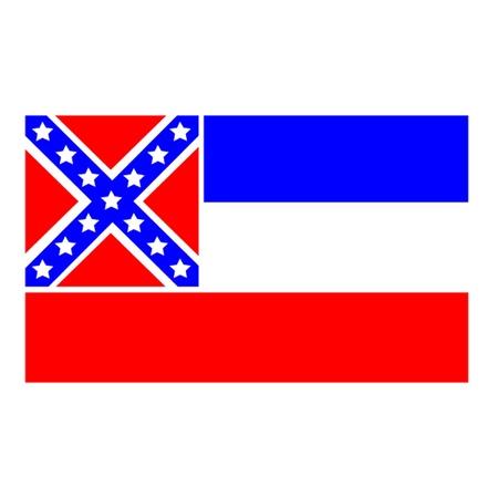 ms: Mississippi Flag Illustration