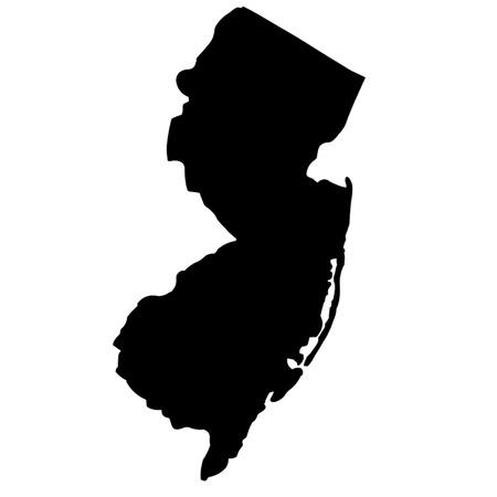 naciones unidas: Estado de Nueva Jersey Vectores