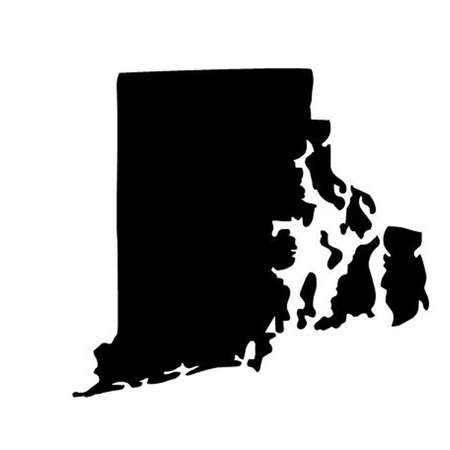 State of Rhode Island. Vector