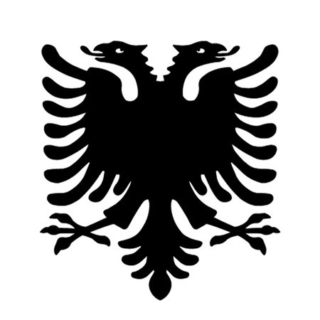 albanian: Albanian Double Headed Eagle Illustration