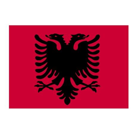double headed: Albanian Flag