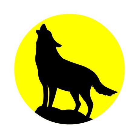 lobo: Lobo aullando a la luna