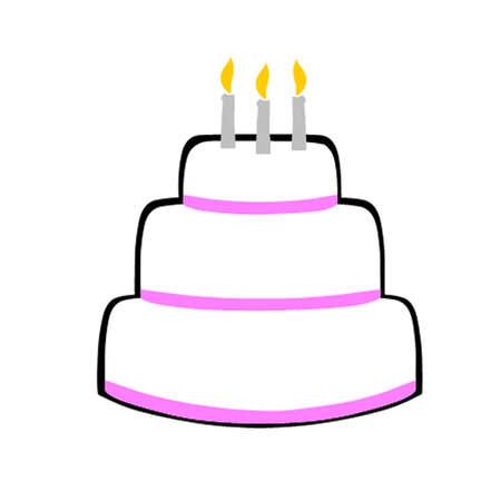 indulgent: Birthday Cake Illustration