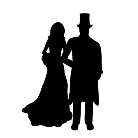 Bride and Groom Stock Vector - 12833643
