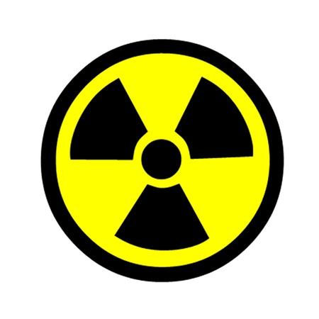 La radiación de advertencia