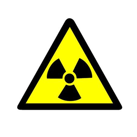 radioattivo: Attenzione Simbolo radioattivo Vettoriali
