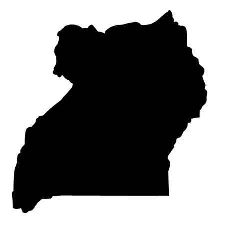 ugandan: Outline of the African Country of Uganda Illustration