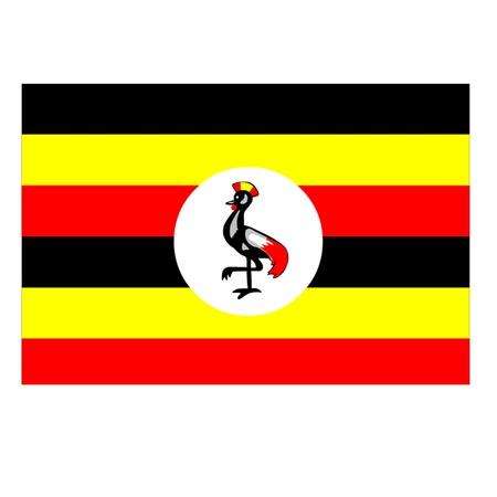 uganda: Flag of Uganda Illustration