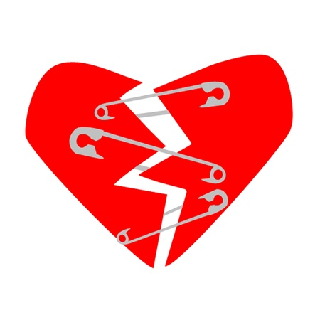 Safety Pin Heart Illustration