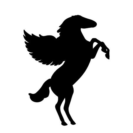 caballo saltando: Pegaso Vectores