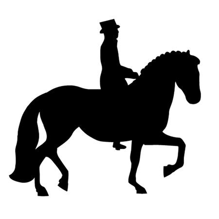 Dressage Horse Stock Vector - 12833806