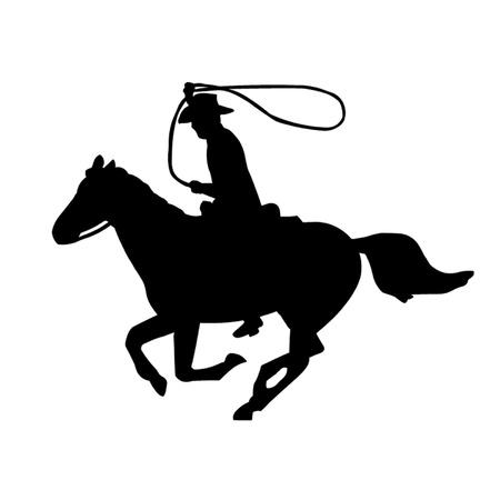 bucking horse: Cowboy on Horseback