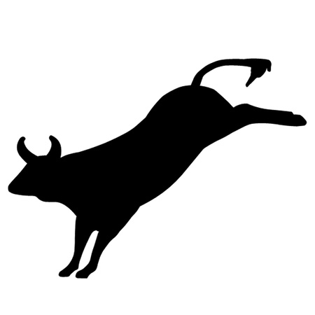 Bucking Rodeo Bull Vector