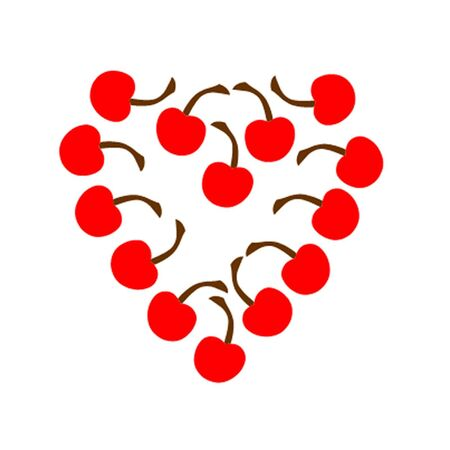 Cherry Heart Stock Vector - 12983758