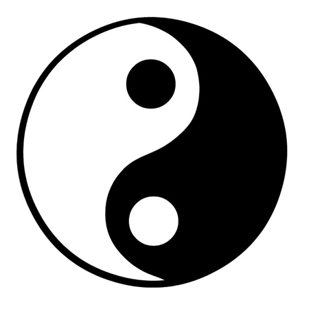 chinese philosophy: Yin Yang Symbol Illustration