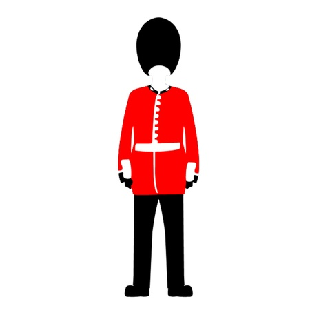 Queens Guard Stock Vector - 13859322