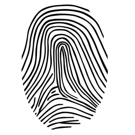 Huella dactilar Ilustración de vector
