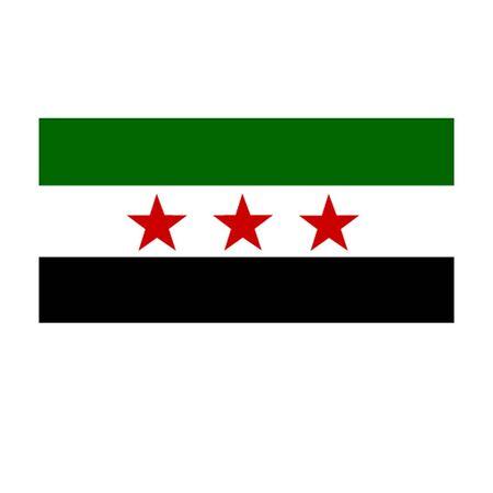 Bandera de la oposición siria Foto de archivo - 14304984