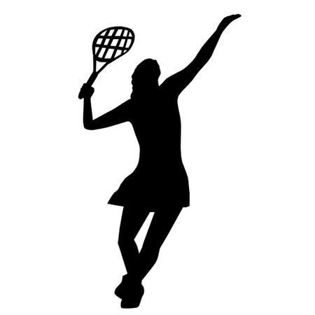 tennis serve: Tennis Player Illustration