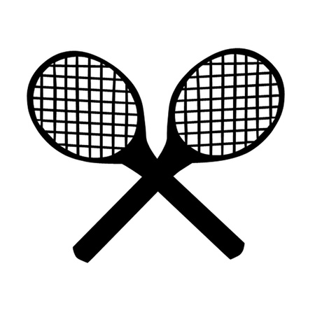 hard court: Tennis Rackets Illustration