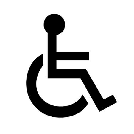 Symbole fauteuil roulant handicapé